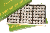 Image shows a 72-piece box of champagne truffles on a white background.