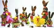Image shows Easter bunny and Easter chick gift boxes on a white background.